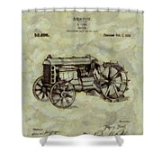 Henry Ford Tractor Patent Shower Curtain