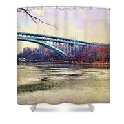 Henry Hudson Bridge And The Palisades Shower Curtain