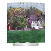 Henry Warren's Red Barn Shower Curtain