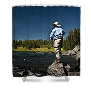 Henry's Fork Shower Curtain by Ron White