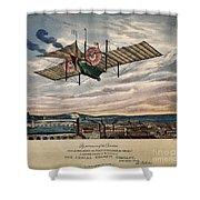 Henson's Aerial Steam Carriage 1843 Shower Curtain