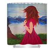 Her Beautiful Day Shower Curtain