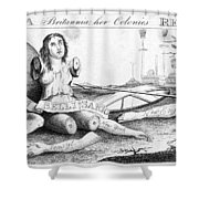 Her Colonies Reduced Shower Curtain