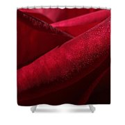 Her Crimson Robe Shower Curtain