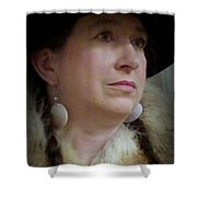 Her Hat And Fur Shower Curtain
