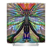 Her Heart Has Wings - Spiritual Art By Sharon Cummings Shower Curtain