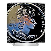 Her Majesty Elisabeth The Second  Coin Shower Curtain