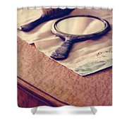 Her Sailor Remains At See Shower Curtain