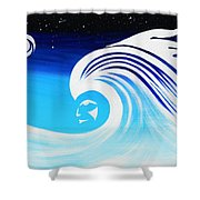Her Wave Shower Curtain