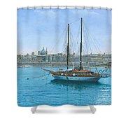 Hera 2 Valletta Malta Shower Curtain