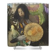 Heratige #1-young Traditional Dancer Shower Curtain