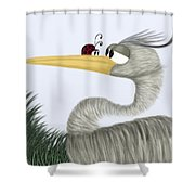 Herb The Heron And His Visitor Shower Curtain