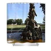 Hercules Sculpture Water Fountain  Shower Curtain