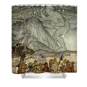 Hercules Supporting The Sky Instead Of Atlas Shower Curtain