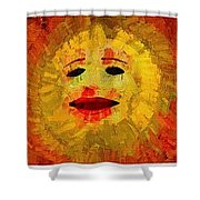 Here Come The Suns Triptych Shower Curtain