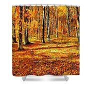 Here Comes Fall Shower Curtain