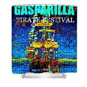 Here Comes Gasparilla Shower Curtain