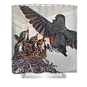 Here Comes Mom Shower Curtain