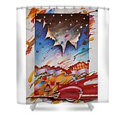 Here Comes The Night Shower Curtain