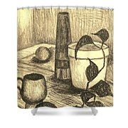 Here Is The Flashlight Shower Curtain