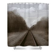 Here That Train Shower Curtain
