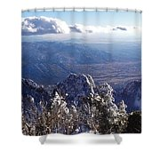 Here We Are Shower Curtain