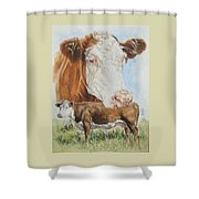 Hereford Cattle Shower Curtain