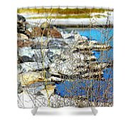 Hereford Inlet Rock Formations Shower Curtain