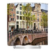 Herengracht Canal Houses In Amsterdam Shower Curtain