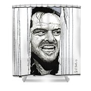 Here's Johnny Shower Curtain
