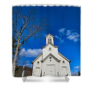 Heres The Church And The Steeple Shower Curtain
