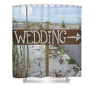 Here's The Wedding Shower Curtain