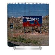 Here's Utah Shower Curtain