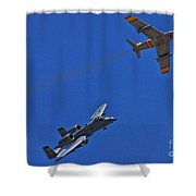 Heritage Flight A-10 F-86 Shower Curtain