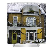 Heritage Home In Yellow Shower Curtain