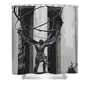 Herkules Abstract Nyc Shower Curtain