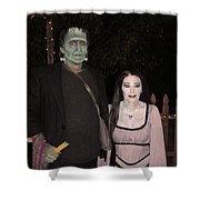Herman And Lilly Munster Shower Curtain