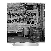 Herman Had It All Bw Shower Curtain