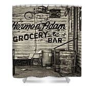 Herman Had It All - Sepia Shower Curtain
