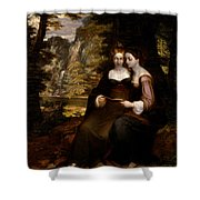 Hermia And Helena Shower Curtain