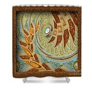 Hermitage Abstract Swirl  Shower Curtain