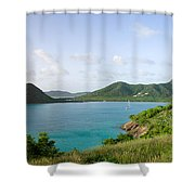Hermitage Bay Panorama Antigua Shower Curtain