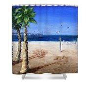 Hermosa Beach Pier Shower Curtain