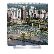 Hernando-desoto Bridge Memphis Shower Curtain