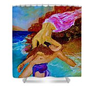 Hero And Leander Shower Curtain