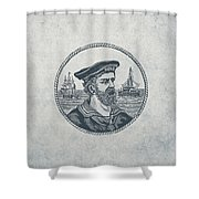 Hero Sea Captain - Nautical Design Shower Curtain
