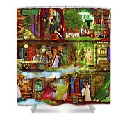 Heroes And Heroines Shower Curtain