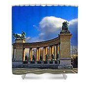 Heroes Square Shower Curtain