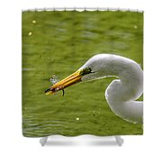 Heron And Dragonfly Shower Curtain