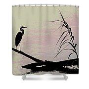 Heron Morning Shower Curtain